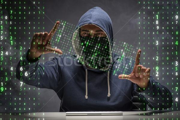 Genç hacker veri güvenliği bilgisayar güvenlik ağ Stok fotoğraf © Elnur
