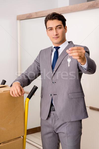 Agent immobilier clé affaires argent maison Photo stock © Elnur