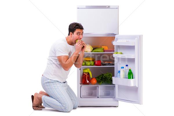 человека холодильник полный продовольствие счастливым здоровья Сток-фото © Elnur