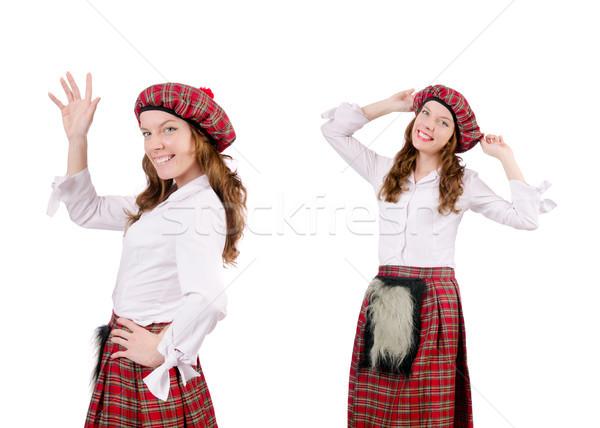 Genç kadın geleneksel giyim kız çanta kadın Stok fotoğraf © Elnur