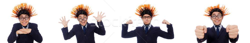 Funny hombre peinado negocios pelo empresario Foto stock © Elnur