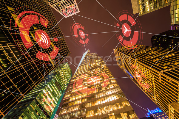 Internet of things concept in city Stock photo © Elnur