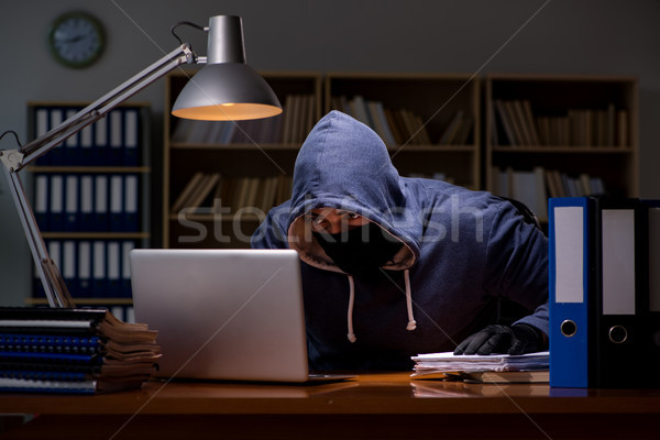 Hacker stealing personal data from home computer Stock photo © Elnur