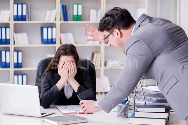 Office conflict between man and woman Stock photo © Elnur