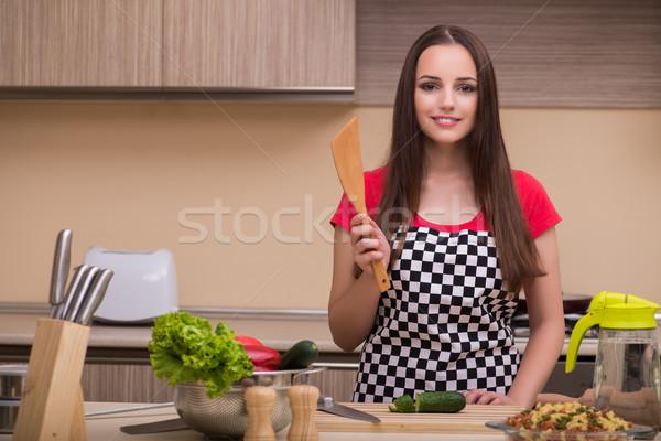 Casalinga lavoro cucina donna lavoro Foto d'archivio © Elnur