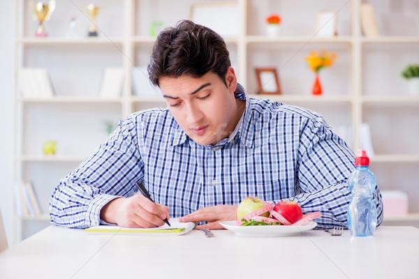 Uomo speciale dieta salute cena Foto d'archivio © Elnur
