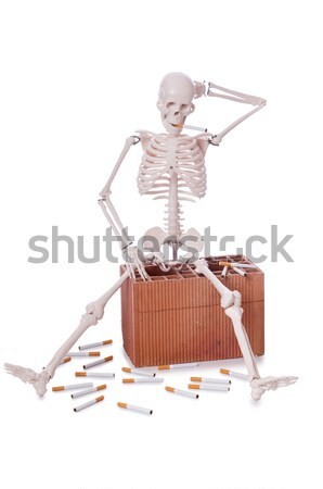 Love concept with skeleton and giftbox Stock photo © Elnur
