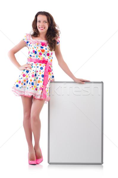 Jonge vrouw poster mode ruimte jonge witte Stockfoto © Elnur