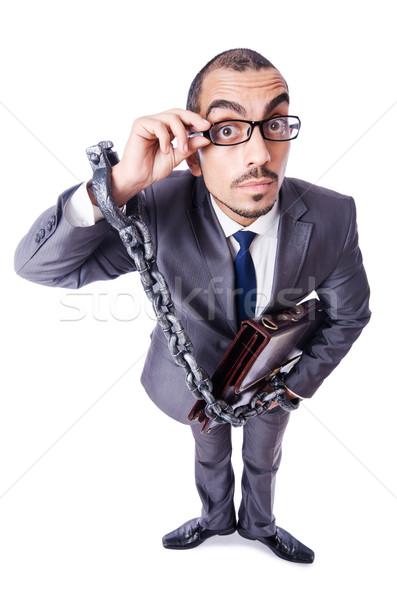 Işadamı kelepçe beyaz iş hukuk polis Stok fotoğraf © Elnur