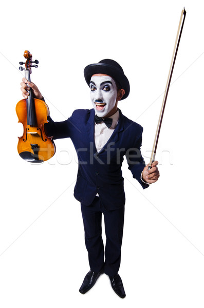Man with face mask playing violin Stock photo © Elnur