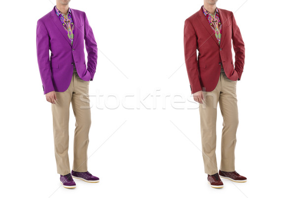 Model with male suit isolated on white Stock photo © Elnur