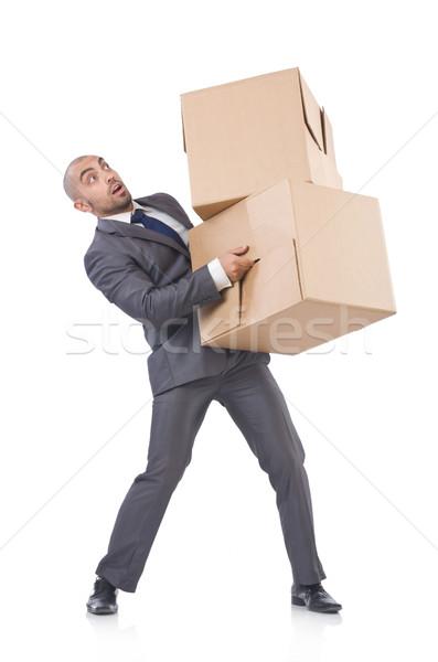 Biznesmen polu odizolowany biały człowiek pracy Zdjęcia stock © Elnur