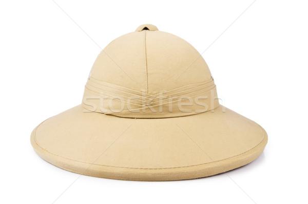 サファリ 帽子 孤立した 白 ジャングル 熱帯 ストックフォト © Elnur