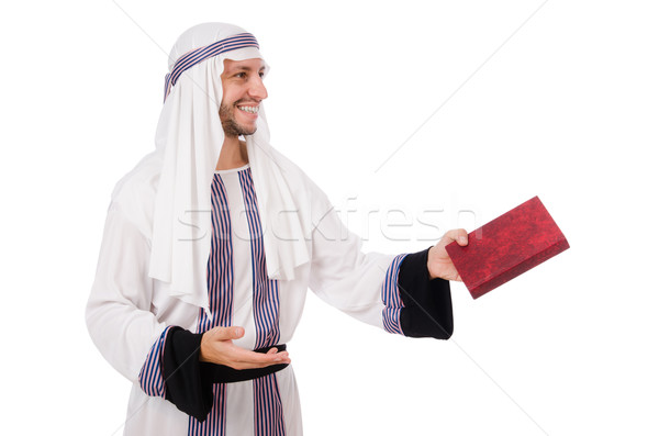 Arab man with book isolated on white Stock photo © Elnur