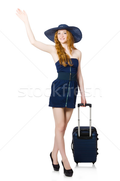 Stock photo: Woman ready for summer holiday isolated on white
