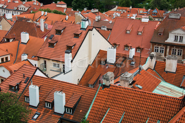 Rooftops in Prague on bright summer day Stock photo © Elnur