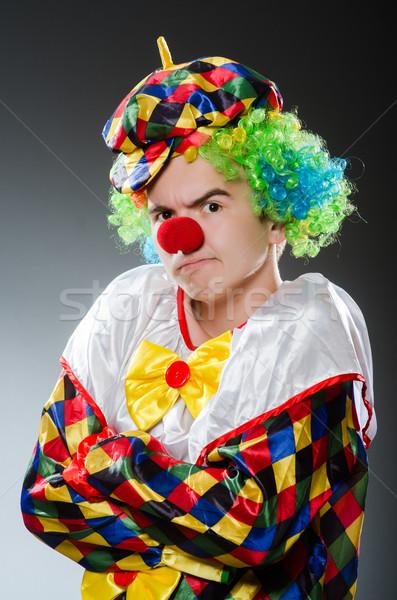 Drôle clown humour sourire amusement chapeau Photo stock © Elnur