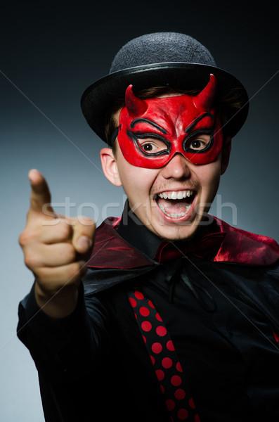 Vicces ördög sötét mosoly szexi boldog Stock fotó © Elnur