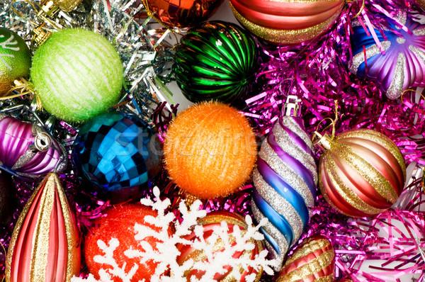 Navidad decoraciones vacaciones fondo espacio Foto stock © Elnur