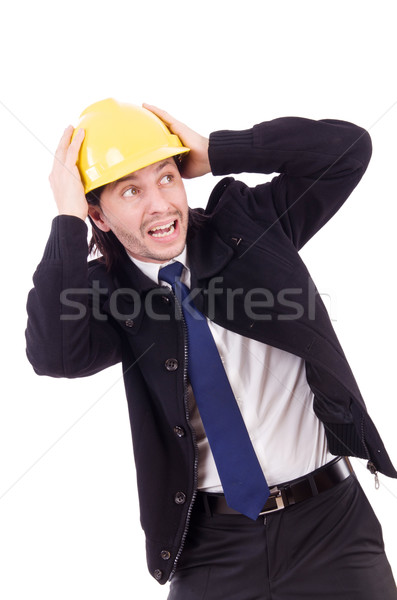 Young construction architect isolated on the white Stock photo © Elnur