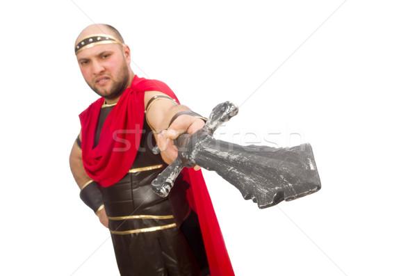 Gladiator zwaard geïsoleerd witte metaal studio Stockfoto © Elnur