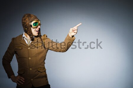 Funny safari hunter with rifle Stock photo © Elnur