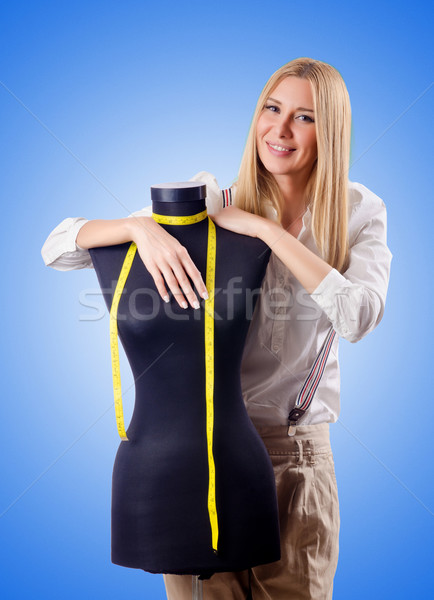 Mujer sastre de trabajo vestido moda trabajo Foto stock © Elnur