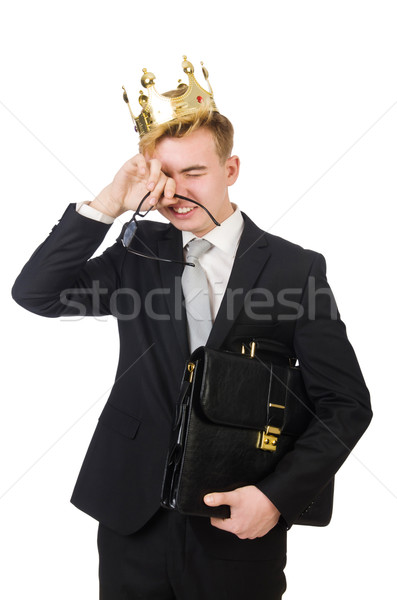 Concept of king businessman with crown Stock photo © Elnur