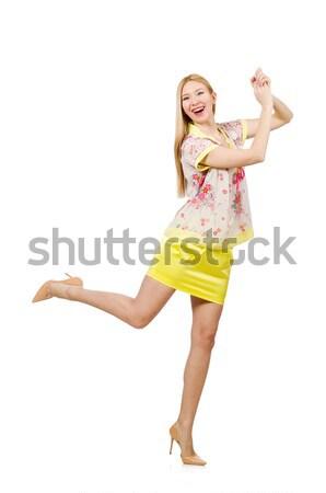 Vrouw mode kleding meisje model dansen Stockfoto © Elnur