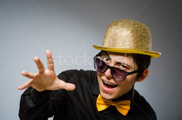 Funny hombre vintage sombrero negocios empresario Foto stock © Elnur