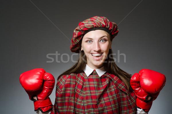 Kadın giyim boks kız spor uygunluk Stok fotoğraf © Elnur