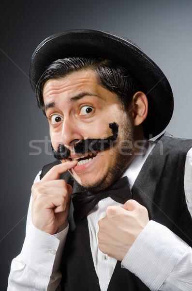 Funny man in vintage concept Stock photo © Elnur