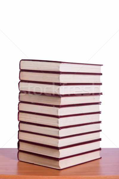 Stack of books arranged the office desk Stock photo © Elnur