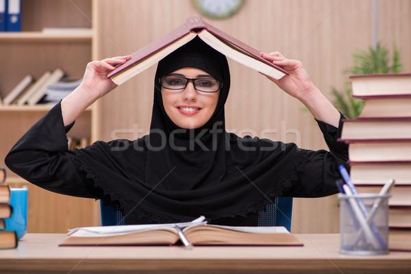 女性 ムスリム 学生 試験 少女 図書 ストックフォト © Elnur