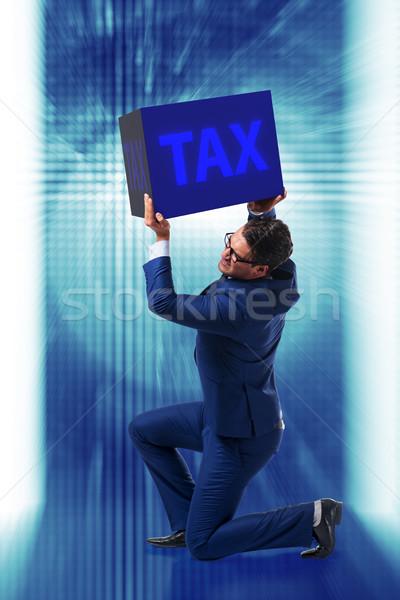 Uomo fiscali carta internet imprenditore tempo Foto d'archivio © Elnur