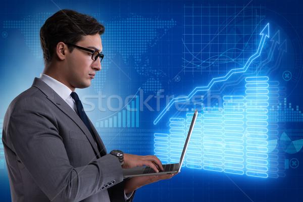 ビジネスマン 株式交換 取引 お金 インターネット 男 ストックフォト © Elnur