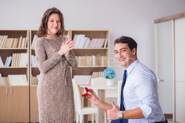 ストックフォト: ロマンチックな · 男 · 結婚 · 提案 · ビジネス