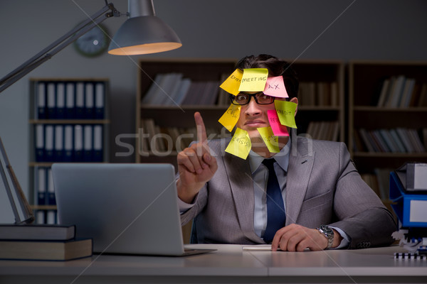The businessman staying late to sort out priorities Stock photo © Elnur