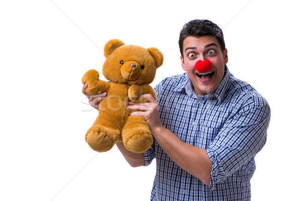 Drôle clown homme soft Nounours jouet Photo stock © Elnur