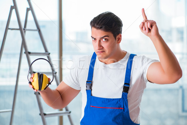 Pracownika hałasu słuchawki budowy pracy przemysłu Zdjęcia stock © Elnur
