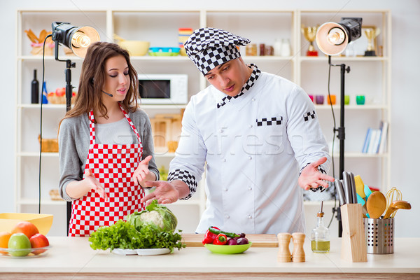 Food cooking tv show in the studio Stock photo © Elnur