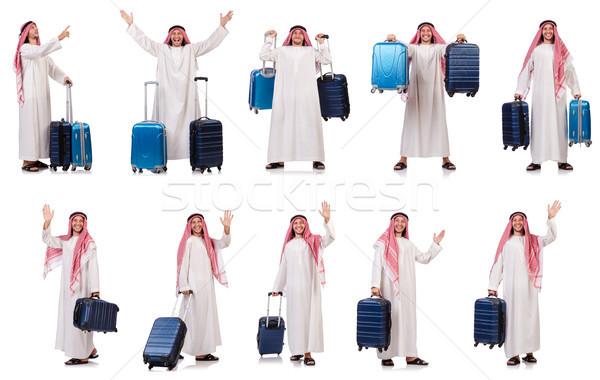 Arab uomo bagaglio bianco business viaggio Foto d'archivio © Elnur