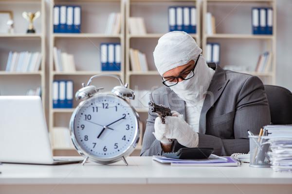 Foto d'archivio: Imprenditore · lavoratore · lavoro · ufficio · uomo · clock