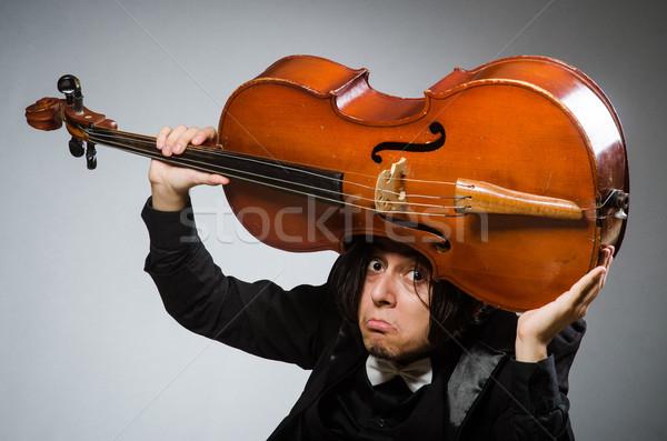 Człowiek musical sztuki smutne koncertu młodych Zdjęcia stock © Elnur