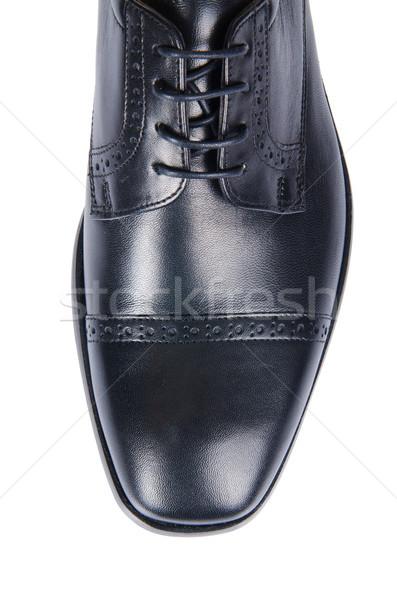Ponta masculino sapatos isolado branco homem Foto stock © Elnur