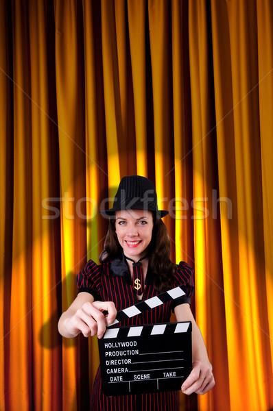 Mujer gangster película película fondo seguridad Foto stock © Elnur