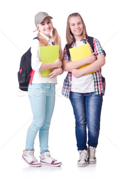 пару молодые студентов белый девушки книга Сток-фото © Elnur