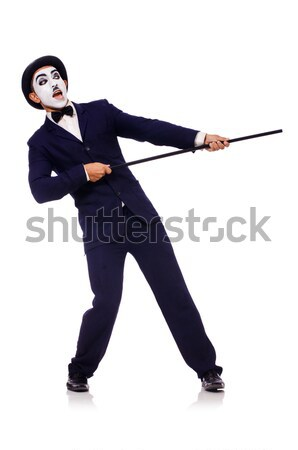 Empresário criminal dinheiro homem máscara saco Foto stock © Elnur