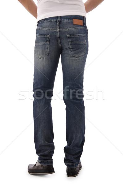 Pantaloni isolato bianco modello sfondo jeans Foto d'archivio © Elnur