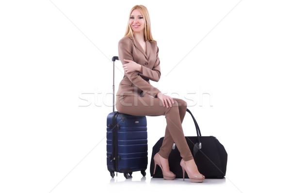 Vacanze ragazza felice sfondo viaggio Foto d'archivio © Elnur